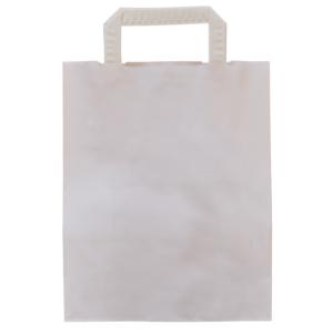 Bedruckte Papiertasche weiß